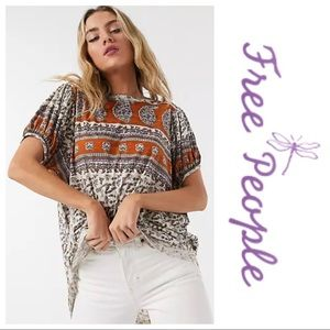 NWT Free People Paisley Top